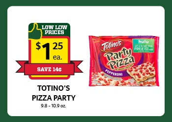 Totino's Pizza Party $1.25 each